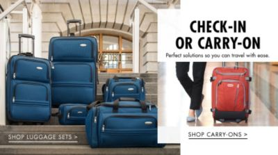 Check-In Or Carry-On - Perfect solutions so you can travel with ease.